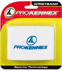 munhequeira prokennex wristband branca com 2 unidades - curta