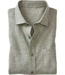 hennep-overhemd, steengroen-gemêleerd s