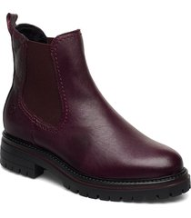 woms boots shoes chelsea boots röd tamaris