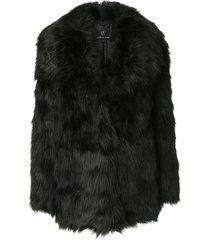 unreal fur premium rose jacket - black
