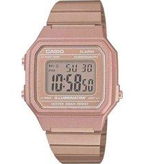 reloj casio b650wc_5a rosa acero inoxidable