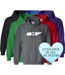 tennessee hoodie sweatshirt love home heart unisex men women state