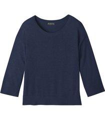 hennep pullover met royale ronde halslijn, indigo xs