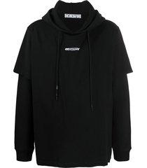 barrel worker logo double tee hoodie