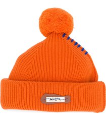 ader error puff-embellished beanie - orange