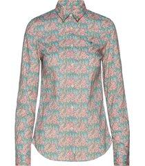 lily liberty belle fleur shirt overhemd met lange mouwen multi/patroon morris lady