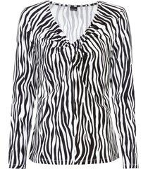 maglia a maniche lunghe con scollo a cascata (nero) - bodyflirt