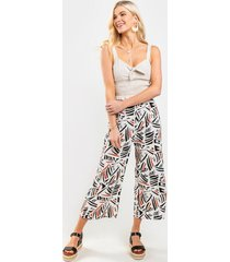 jane abstract striped pants - ivory