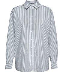 2nd floyd stripe långärmad skjorta grön 2ndday