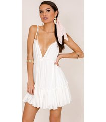showpo the way you are tunic dress in white - 10 (m)vosn sale