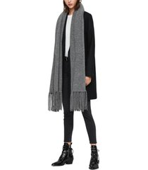women's allsaints boiled wool scarf, size one size - grey