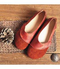 socofy vintage scarpe basse in pelle vera comode e morbide mocassini