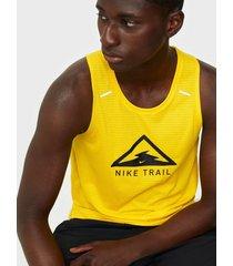 nike m nk rise 365 tank trail tränings t-shirts yellow