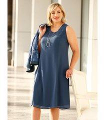 klänning & liten jacka m. collection blå