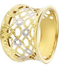 anello in oro bicolore per donna