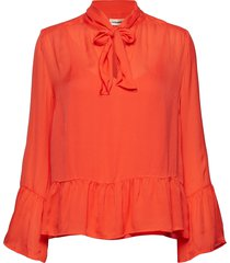 pauline blouse lange mouwen oranje custommade