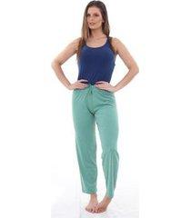 pijama algodão mechler calça feminino - feminino