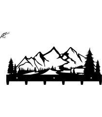 górski widok wieszak na ubrania góry drzewa