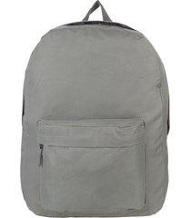 mochila gris trendy escolar 8677