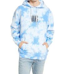 men's vans men's tie dye graphic hoodie, size small - blue