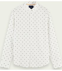 scotch & soda overhemd van biologisch katoen met fil-coupé jacquard