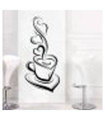 adesivo de parede para cozinha xícara de café 1 - médio