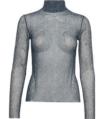 lori t-n t-shirt ls aop 8211 t-shirts & tops long-sleeved blauw samsøe samsøe