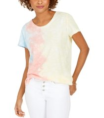 style & co tie-dye scoop-neck t-shirt, created for macy's