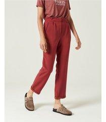 pantalón rojo portsaid twill viscosa decker