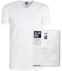 alan red 2-pack t-shirts oklahoma v-hals wit