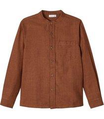 hemd mandarinkragen - baumwoll