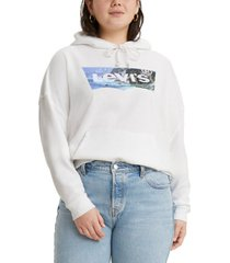 levi's trendy plus size graphic hoodie