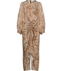 daaliya long dress aop 12887 maxiklänning festklänning beige samsøe samsøe