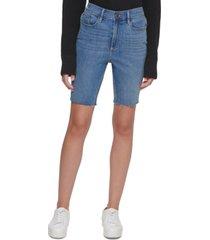 calvin klein jeans raw-hem denim bermuda shorts