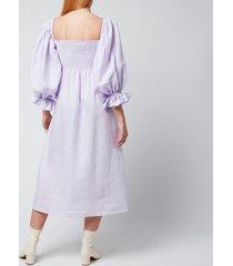 sleeper women's atlanta linen dress - lavender - s