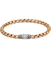 classic chain' sterling silver bronze box chain bracelet