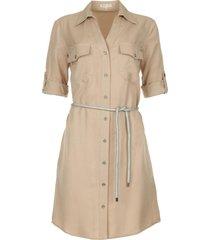 blouse jurk met ceintuur egelia  grijs