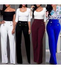 women fashion wide leg pants strech trousers ladies flared trousers loose pants