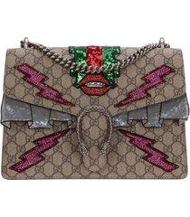 borsa donna a spalla shopping dionysus medium embroidered
