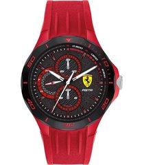 reloj  ferrari 830723 rojo silicona hombre