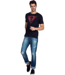 t-shirt triangle guess - preto - masculino - dafiti