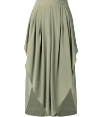 chloé tulip cropped trousers - green