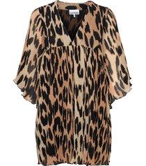 pleated georgette kort klänning multi/mönstrad ganni