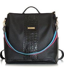 mochila negro minerva