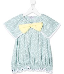 raspberry plum chikita bow-tie blouse - green