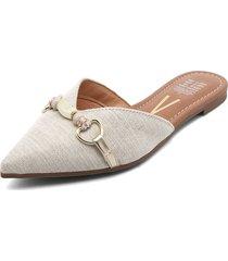 slipper blanco hueso vizzano