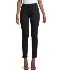 rag & bone women's cate mid-rise ankle skinny jeans - no fade black - size 32 (10-12)