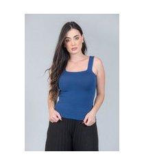 regata charme tricot basico azul