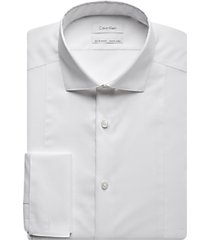 calvin klein white slim fit formal shirt