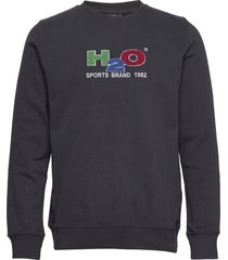 alban sweat o'neck sweat-shirt trui blauw h2o
